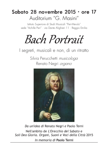 Locandina con ritratto Bach Portrait