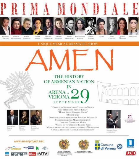 Amen Arena di Verona - locandina fb